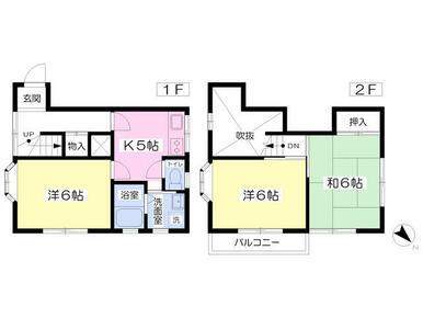 来客時の対応にも使いやすく1.2階に分かれたテラスハウスタイプ♪