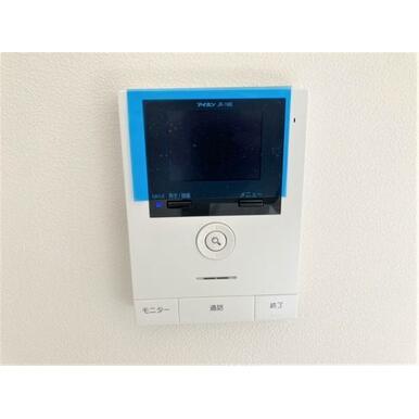 【設備】録画機能・カラーモニター付きインターホン