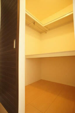 【洋室】収納はウォークイン式です◆ハンガーパイプが付いています。