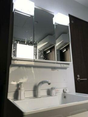 共同で使用する独立洗面台です。各階にあります。