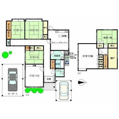 部屋数が多いので大家族や2世帯家族でも対応可能です!