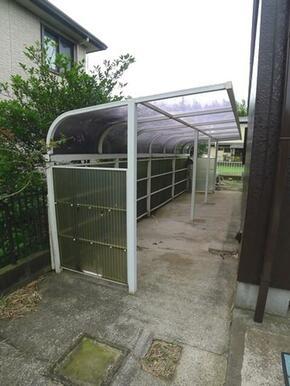 【駐輪場】屋根付きサイクルポートで雨ざらしにはならいよう配慮しました♪