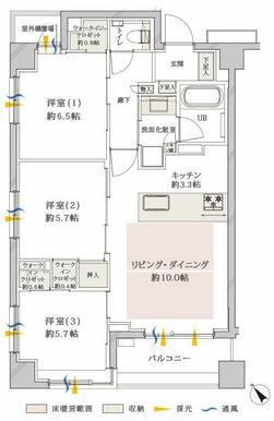 3LDK 70.14㎡ 5,980万円