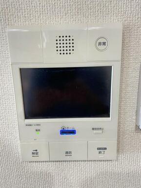 来訪者の顔を確認できるTVモニター付きインターフォン