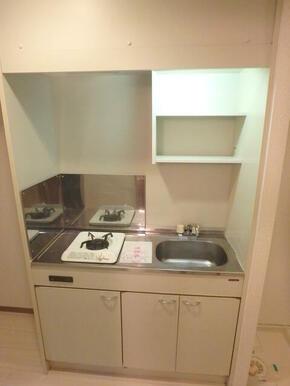 ガスコンロ1口設置済みのキッチン