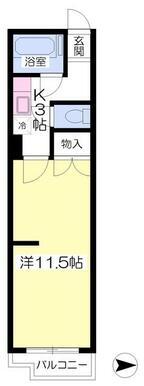 11.5帖ある広めの居室です。