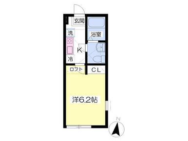 ロフト付でお部屋が広々使える!
