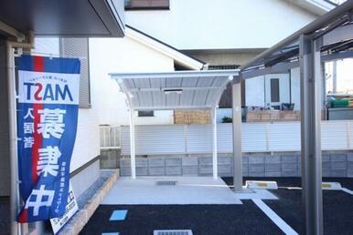 入居者専用駐輪場は嬉しい屋根付きです!