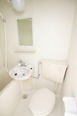 洗面は浴室と同室タイプ