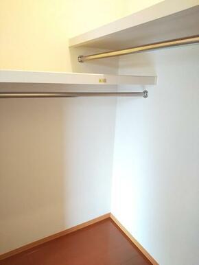 奥行あるウォークインクローゼットでお部屋を広く使えます★