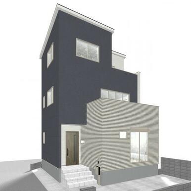 【完成予想図】 おしゃれな外観の3階建て4LDK♪