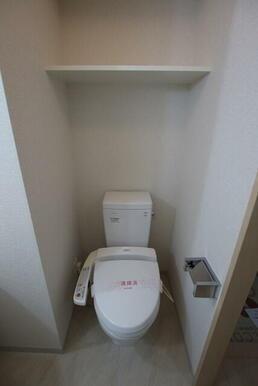 快適な洗浄機能付便座完備