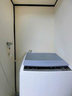 室内洗濯機置場にリフォームされています。