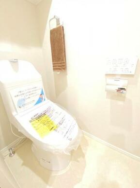 トイレ周りはスッキリとして清潔感があります