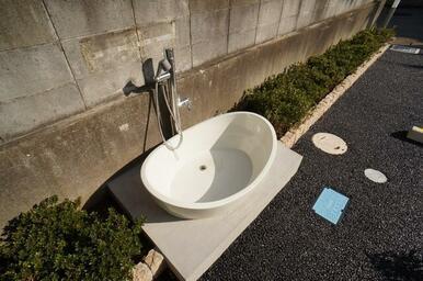 ■□ペット用の足洗い場を設置しています□■
