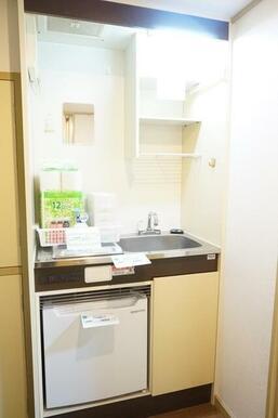 IHコンロ・冷蔵庫付きミニキッチン
