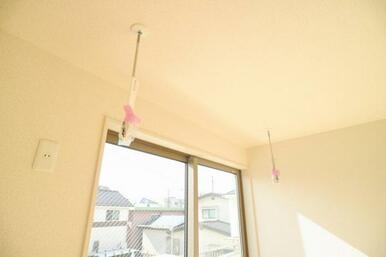 雨の日にも安心の室内物干しが標準装備!