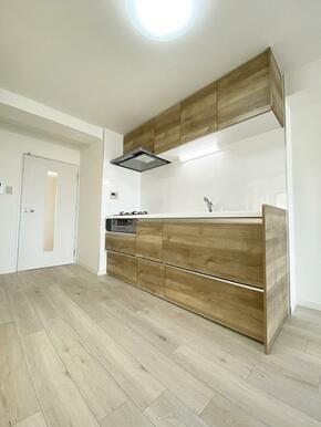 「キッチン」吊り戸棚付き