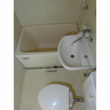 浴槽や洗面が大きめの際サイズになっています。