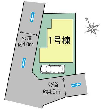 杉並区成田西2丁目1棟 区画図
