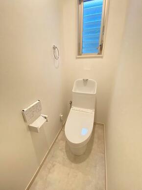 1階 新規交換済みのトイレです。
